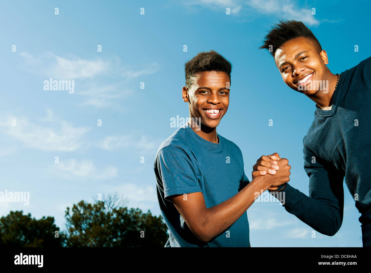 Black People Greeting Each Other Stock Photos Black People