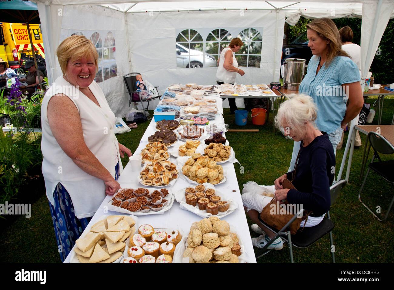 Cake Stall, Fairwarp Village Fete, Fairwarp, Sussex, England - Stock Image
