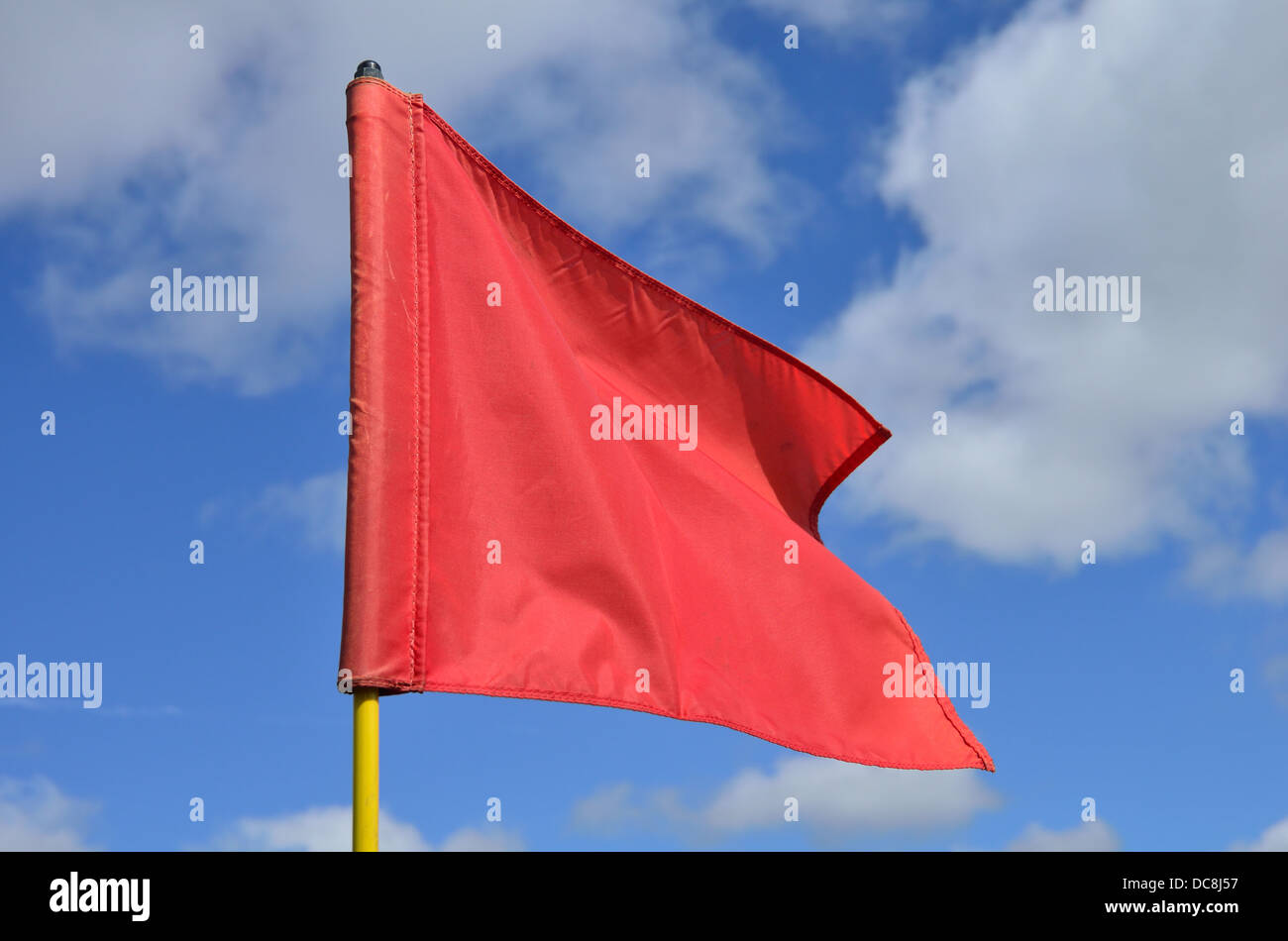 Red flag flying - Stock Image