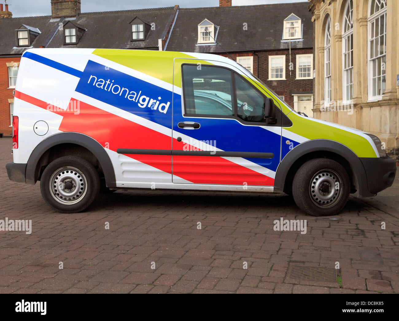 National Grid van vehicle, nationalgrid logo England UK vans vehicles - Stock Image