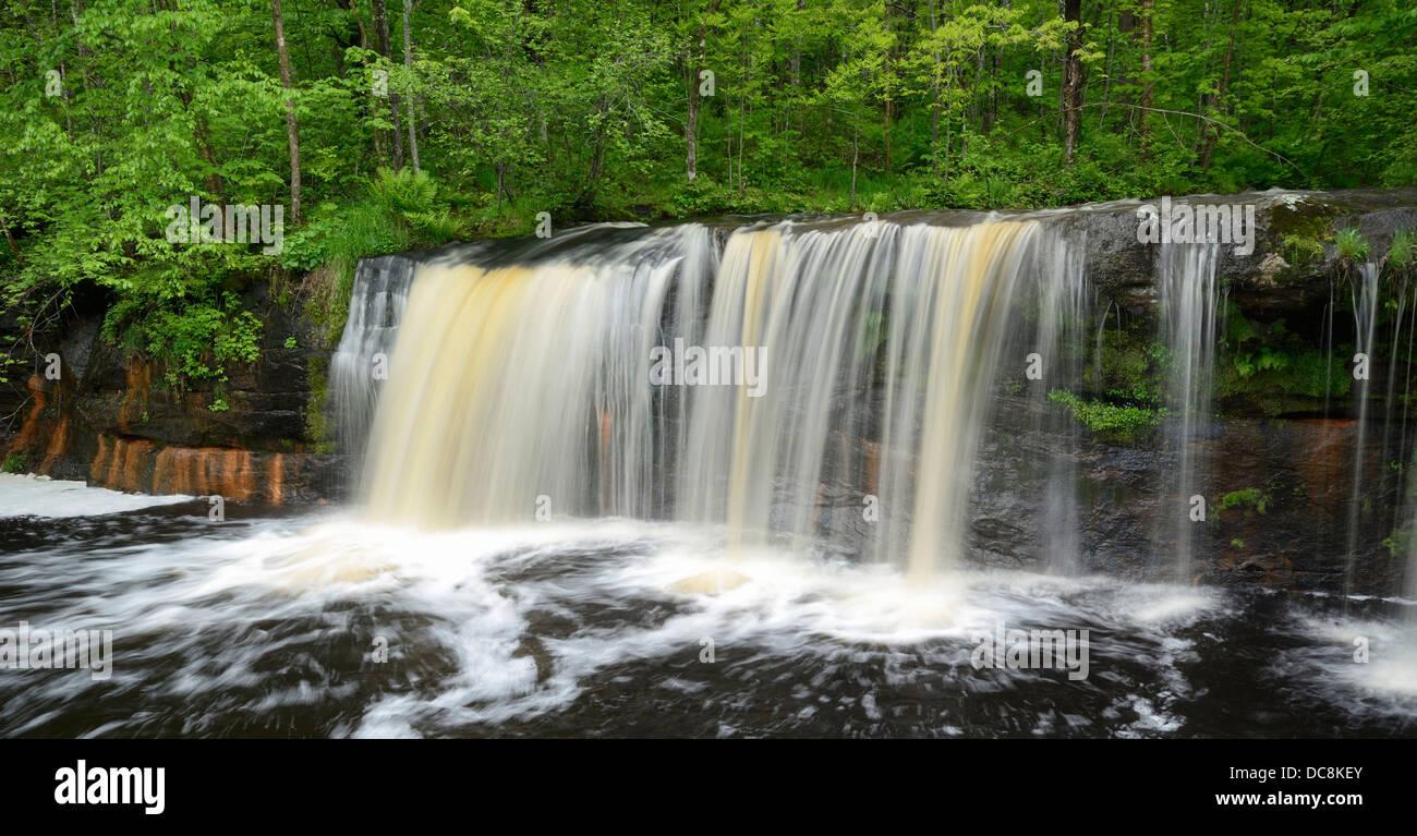 Wolf Creek Falls, Banning State Park, Minnesota, USA - Stock Image