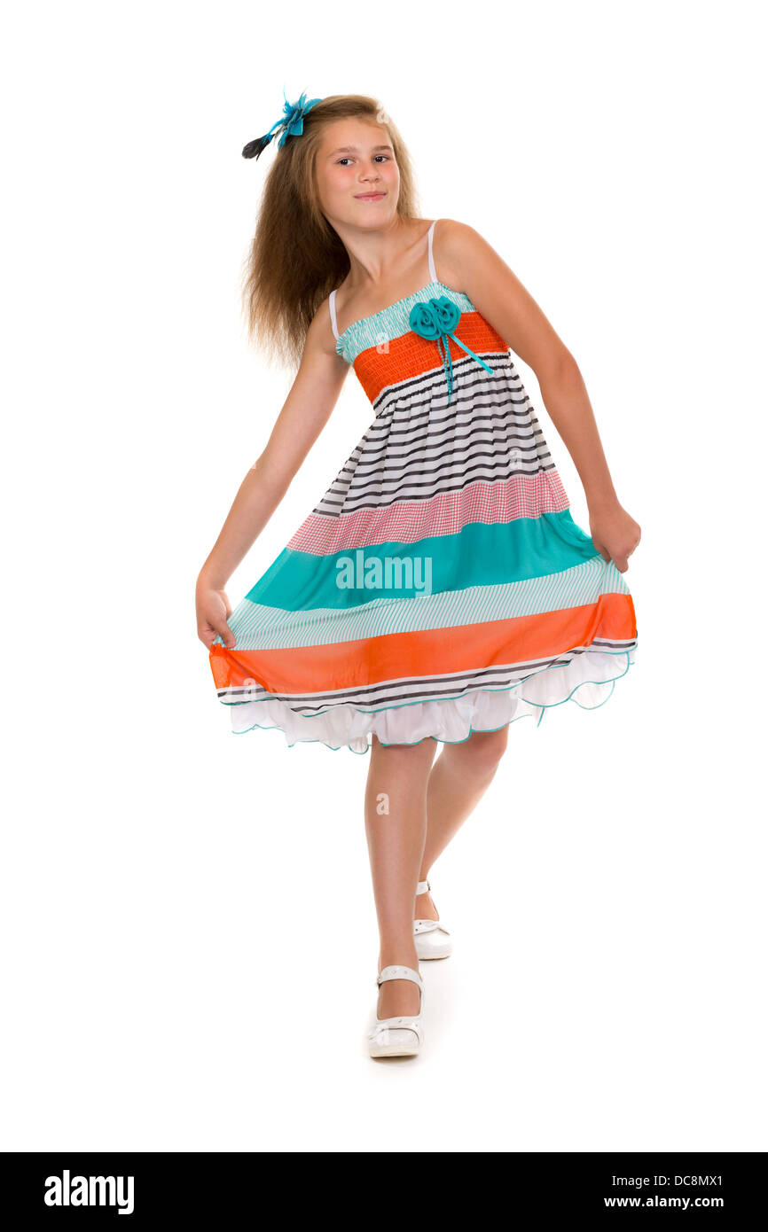 8 Year Old Girl Dress High Resolution Stock Photography and