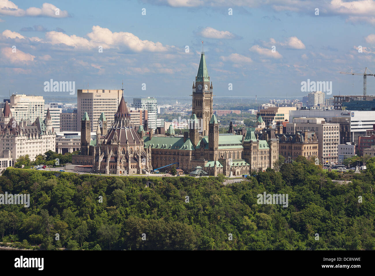 Ottawa Centre town stock images - Stock Image