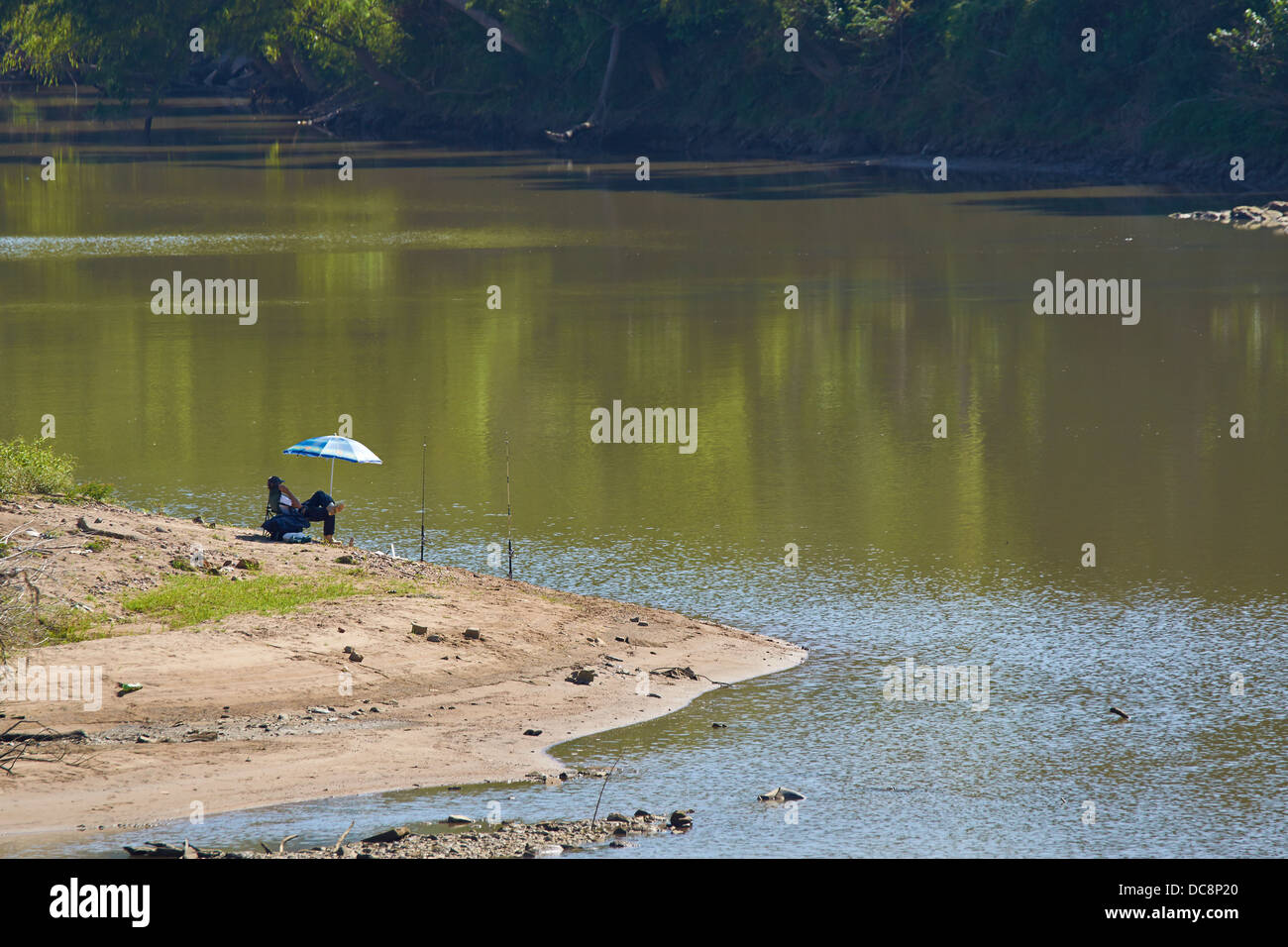 Relaxed fishing - Stock Image