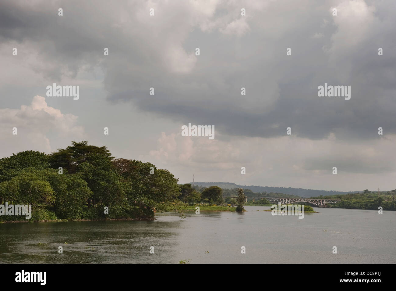 Uganda, 2011. Jinja. The river is considered to be the source of the Nile. - Stock Image