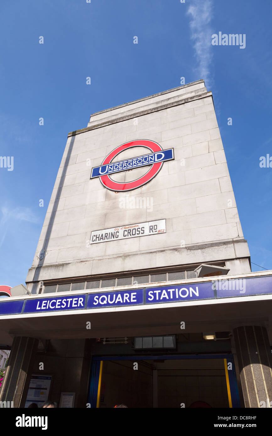 Leicester square tube station, London, England - Stock Image