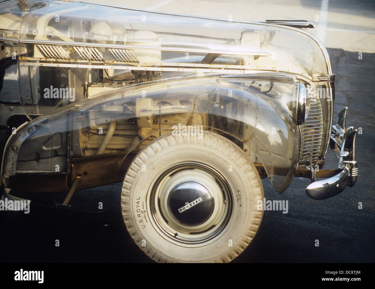 1940 PONTI8AC PLEXIGLASS CAR Stock Photo