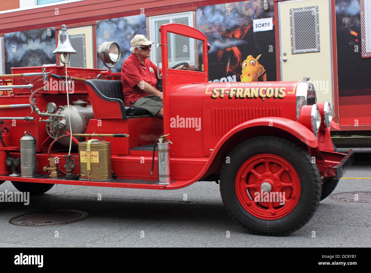 Firefighter festival in Canada. - Stock Image