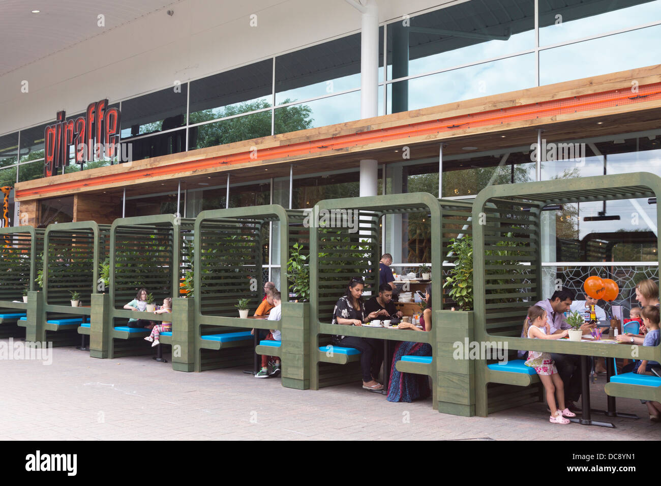 giraffe restaurant tesco extra hypermarket watford stock photo