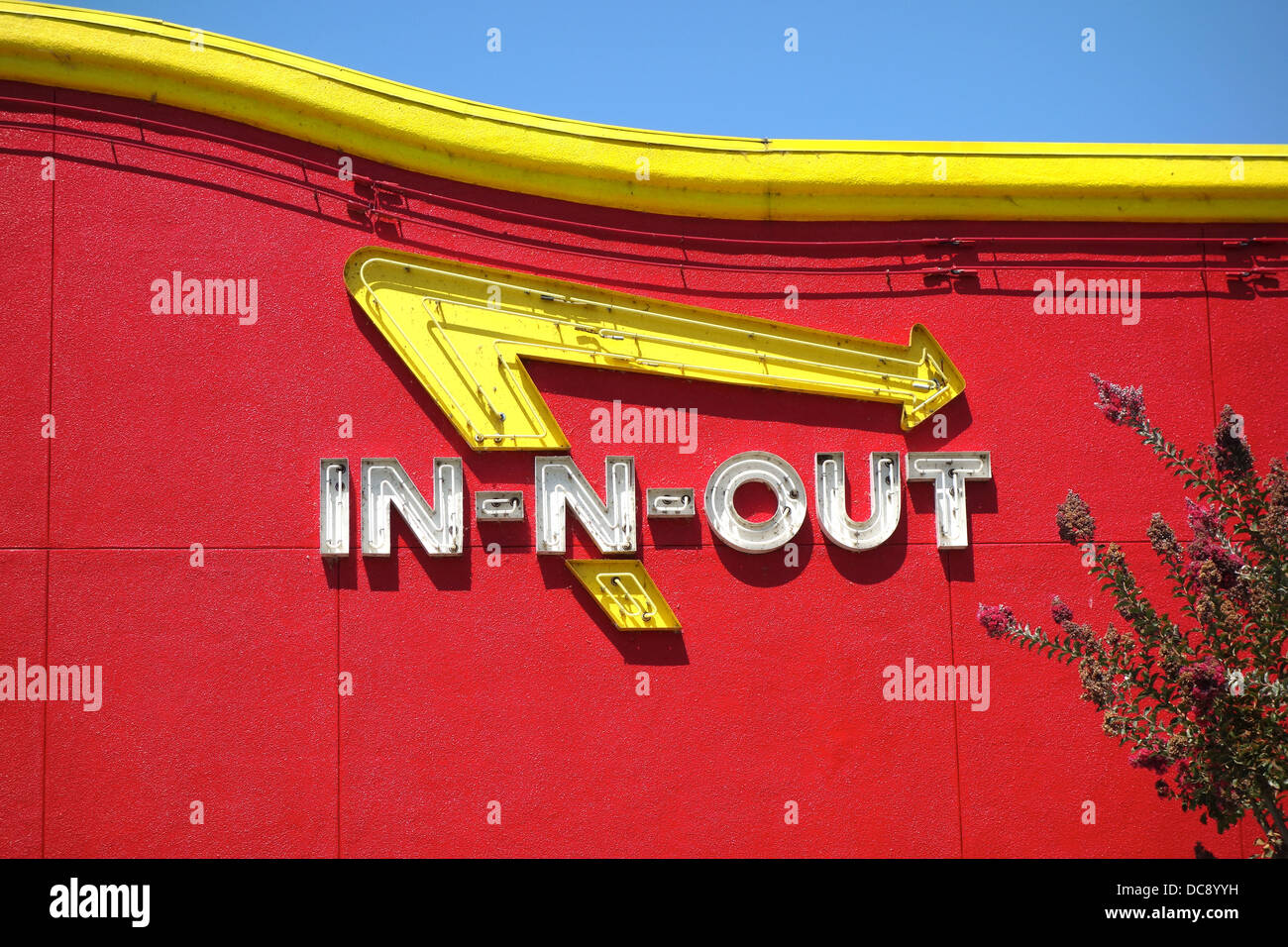 In N Out Burger Sign Stock Photos In N Out Burger Sign Stock