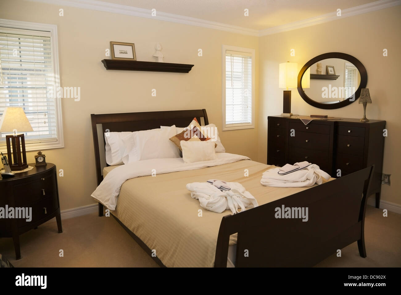 A room ready for guests; Oakville, Ontario, Cananda - Stock Image