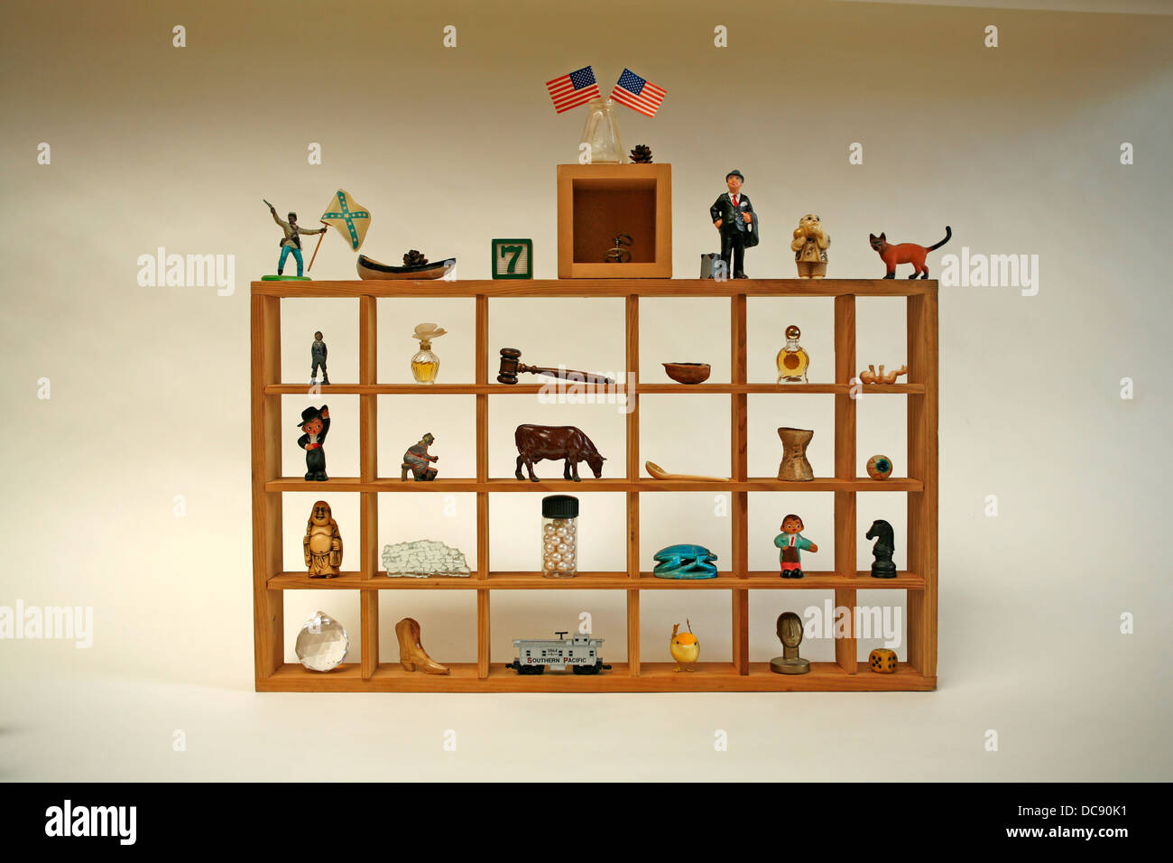 collection of items curios - Stock Image