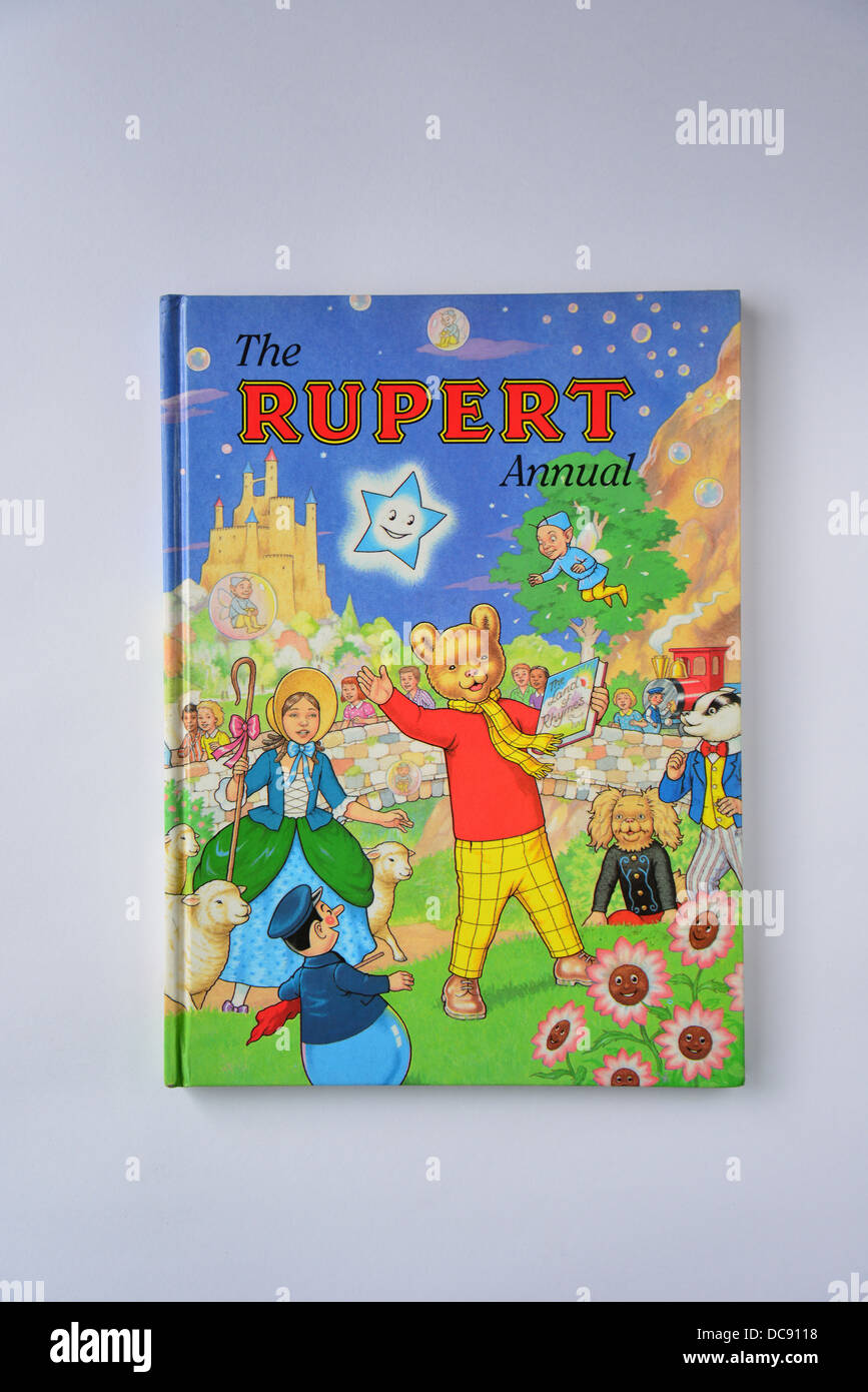 Daily Express Rupert Bear Annual No.61.1996, Surrey, England, United Kingdom - Stock Image