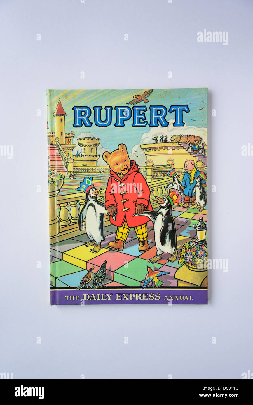 Daily Express Rupert Bear Annual No.42. 1977, Surrey, England, United Kingdom - Stock Image