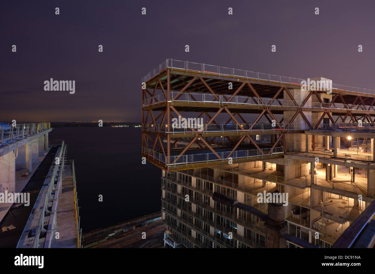 Condominium under construction, Toronto, Ontario, Canada. - Stock Image