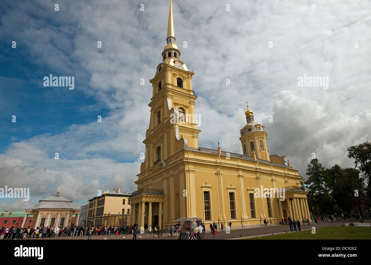 Saints Peter Paul Cathedral, St.Petersburg, Russia - Stock Image