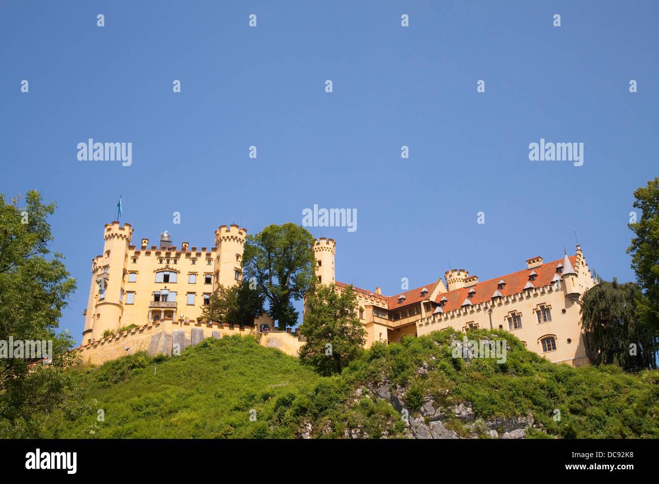 Europe, Germany, Bavaria, Schwangau, Hohenschwangau Castle - Stock Image
