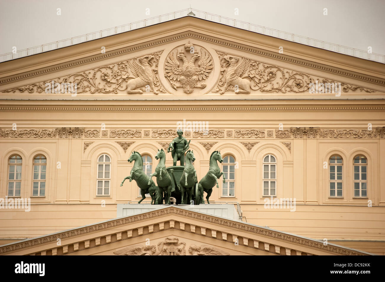 Historical Bolshoi Theater Moscow Russia - Stock Image