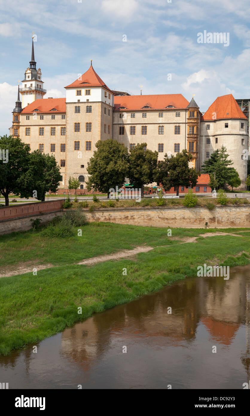 Schloss Hartenfels, Torgau, Saxony, Germany Stock Photo