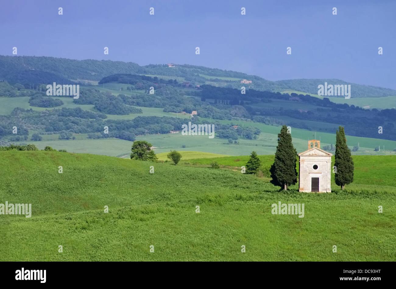 Toskana Kapelle - Tuscany chapel 12 - Stock Image