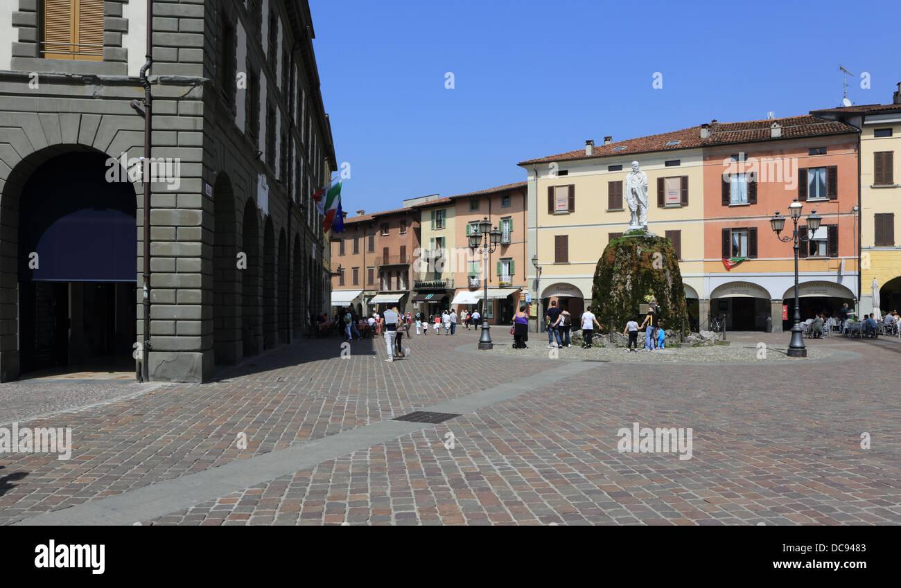 Italy, Lombardy,Lake Iseo,Iseo Tow,Piazza Garibaldi Stock Photo