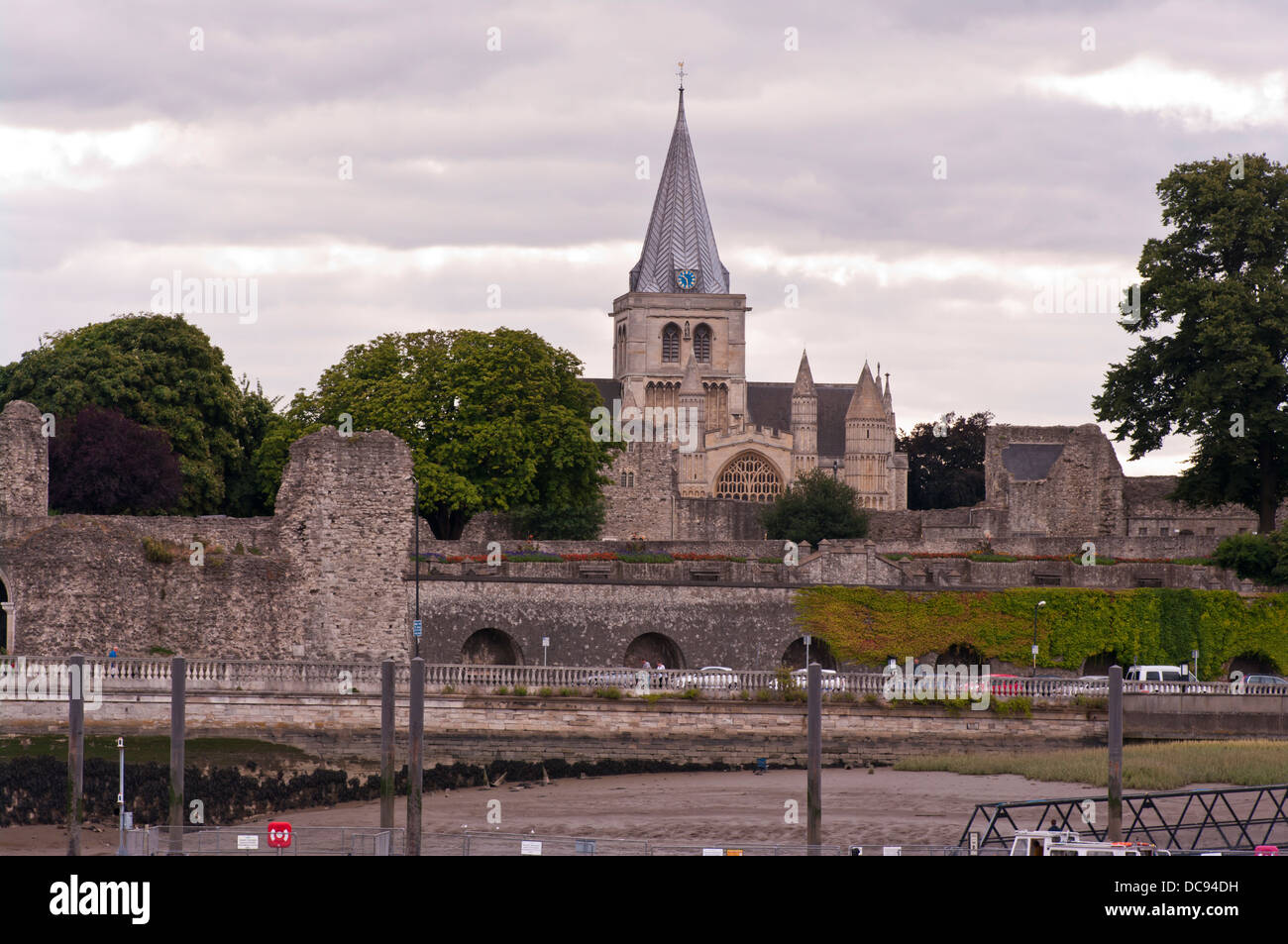 Rochester Cathedral In The Medway Town City Of Rochester Kent England UK - Stock Image