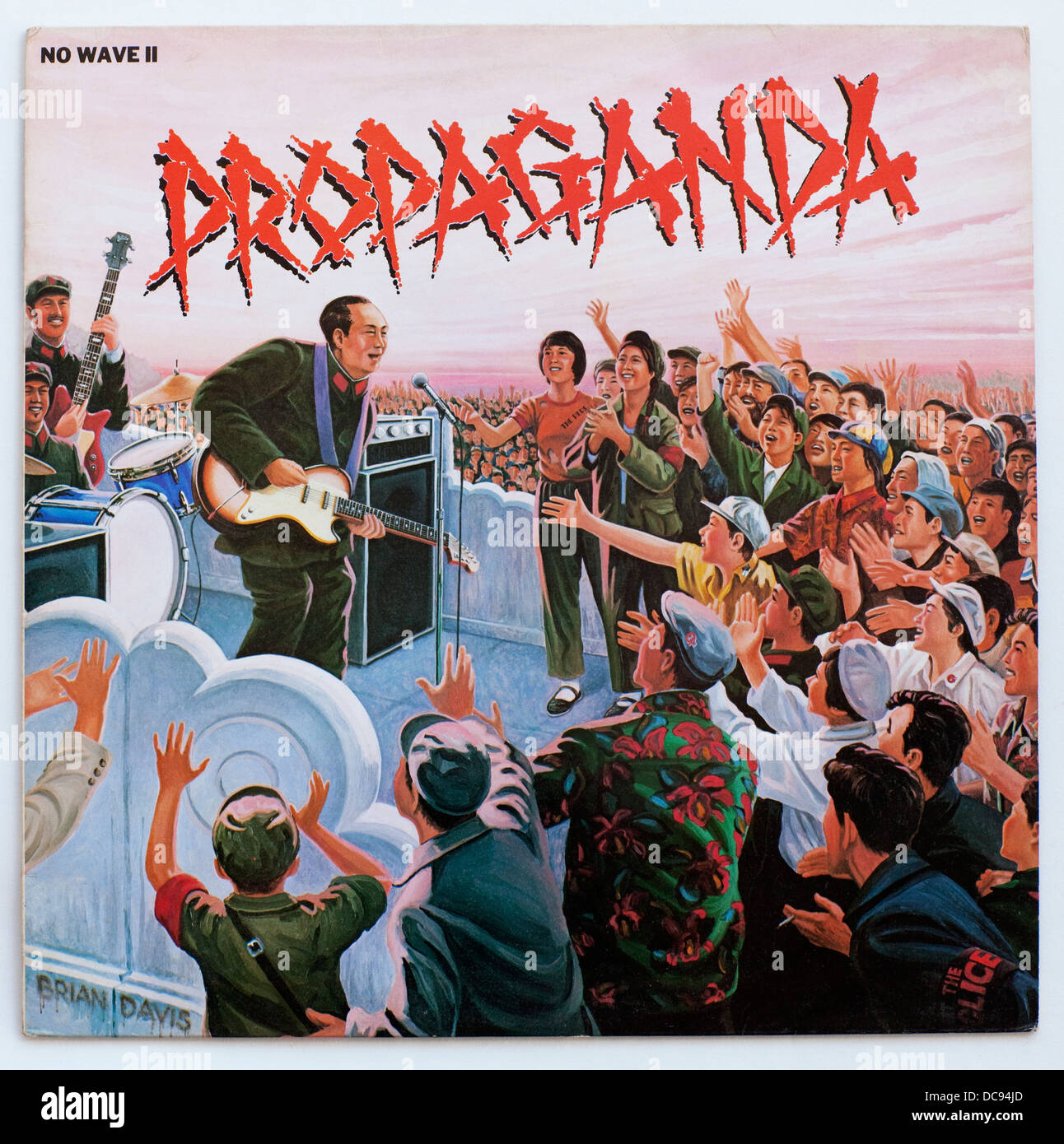 Various Artists-Propaganda (No wave II), 1979, New Wave compilation on A&M Records (Cover art by Brian Davis) - Stock Image