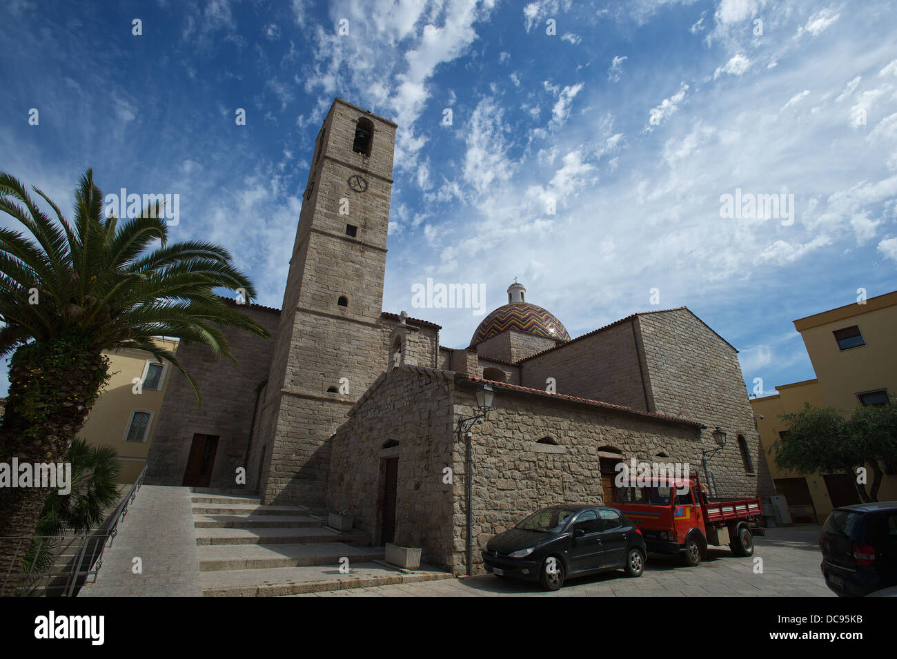 San Paolo church in Olbia, Sardinia - Stock Image
