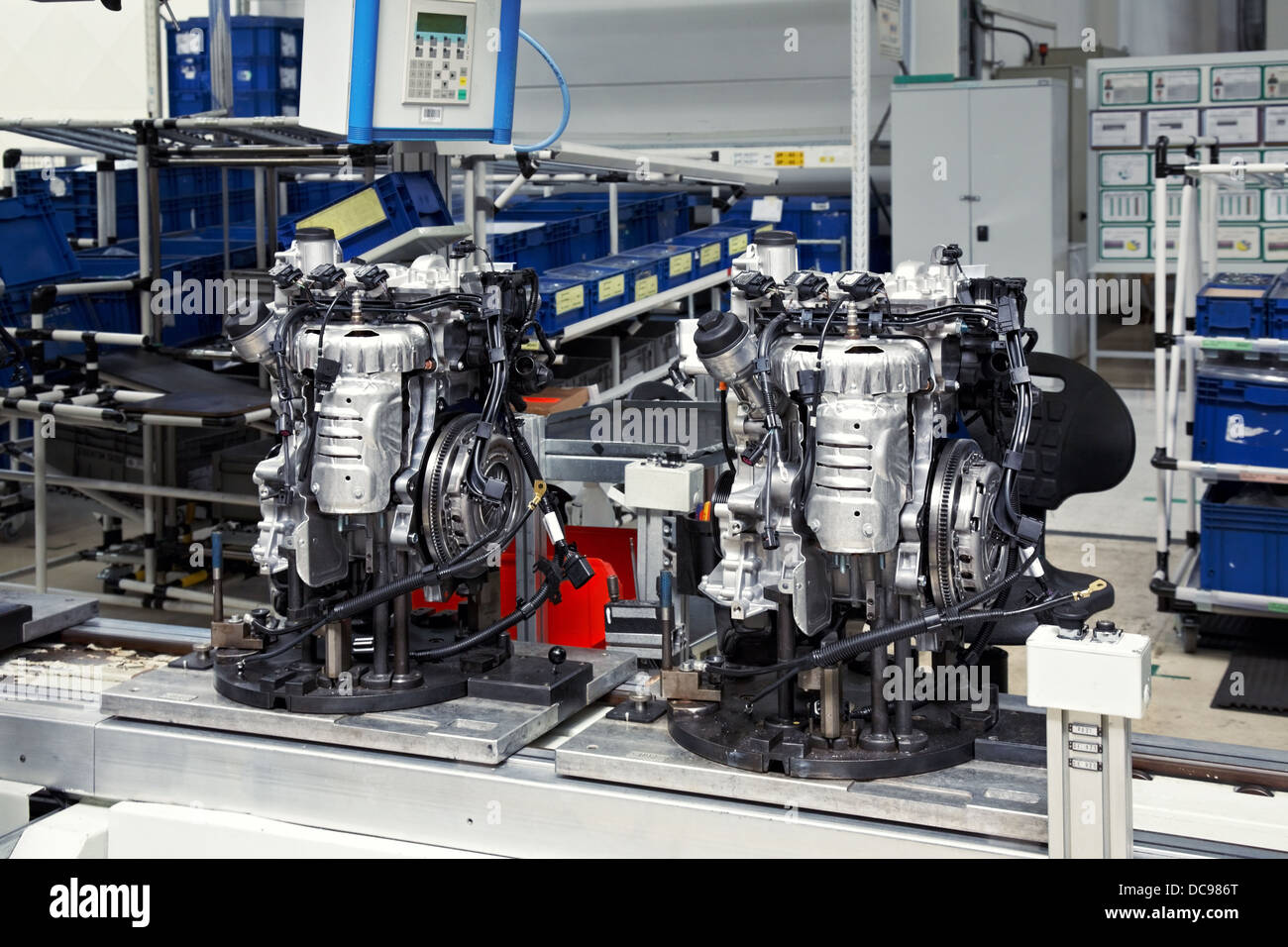 manufacturing parts for car engine Stock Photo