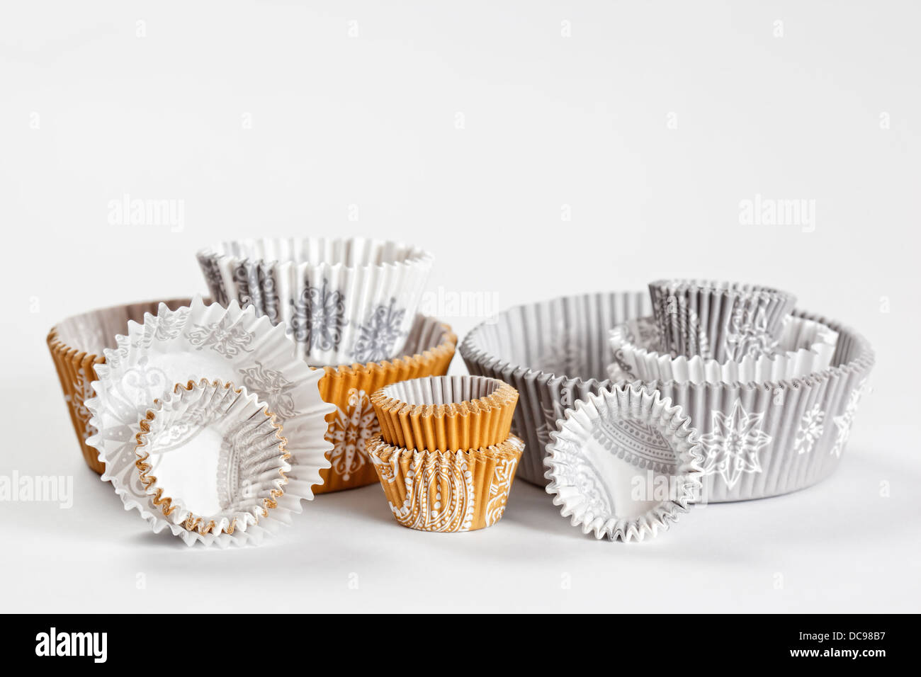 Baking Paper Cups For Cupcakes Or Muffins Stock Photo 59211131 Alamy