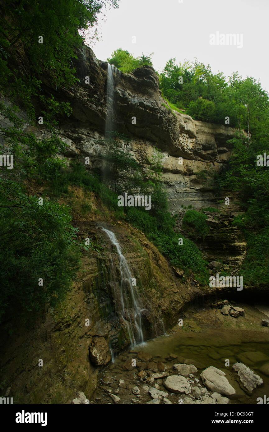 Cascade Queue de Cheval Wasserfall Stock Photo
