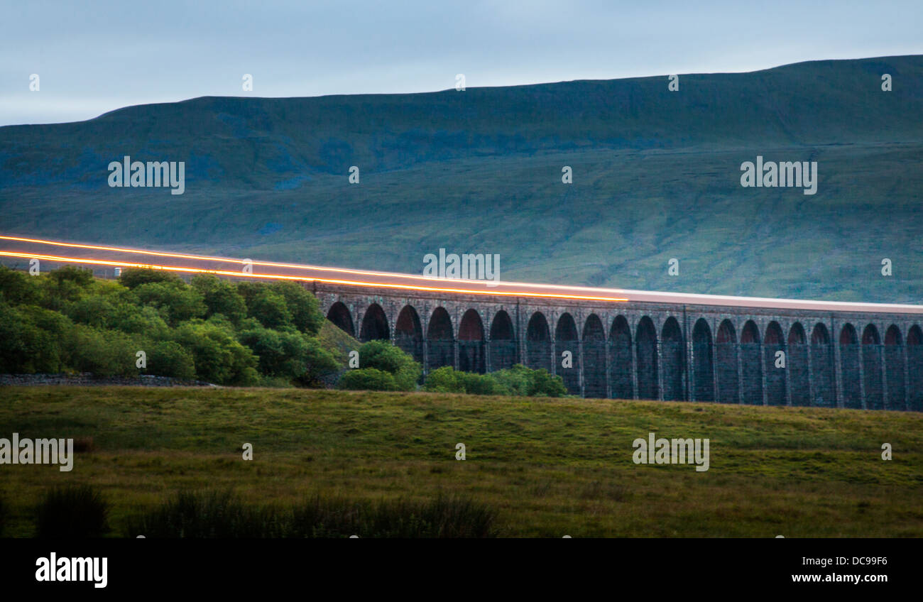 Headlights Of Train Stock Photos Images Head Lights For Model Trains A Crossing Ribblehead Viaduct Ingleborough National Nature Reserve Yorkshire Dales