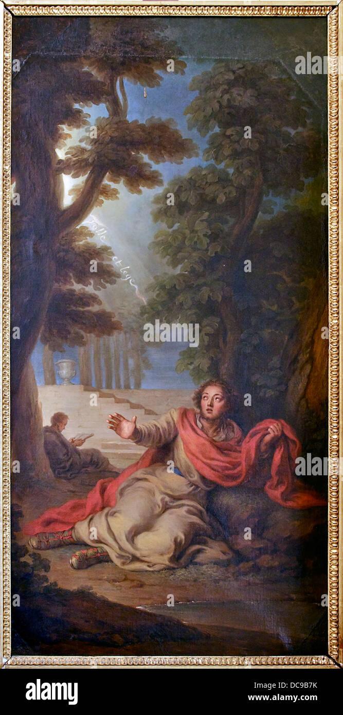 Conversion Saint Augustin Coypel Versailles - Stock Image