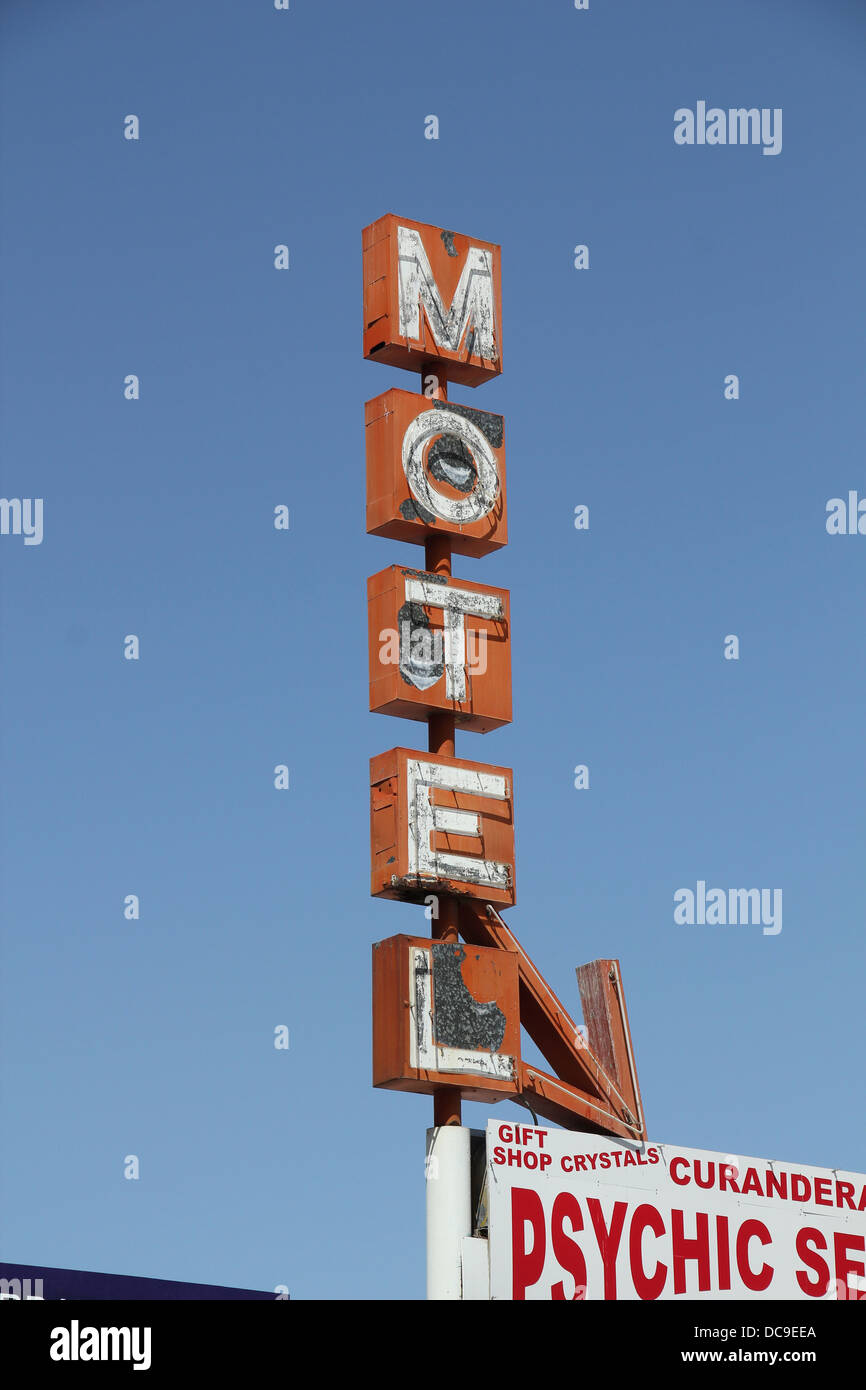 Old rusty motel sign - Stock Image