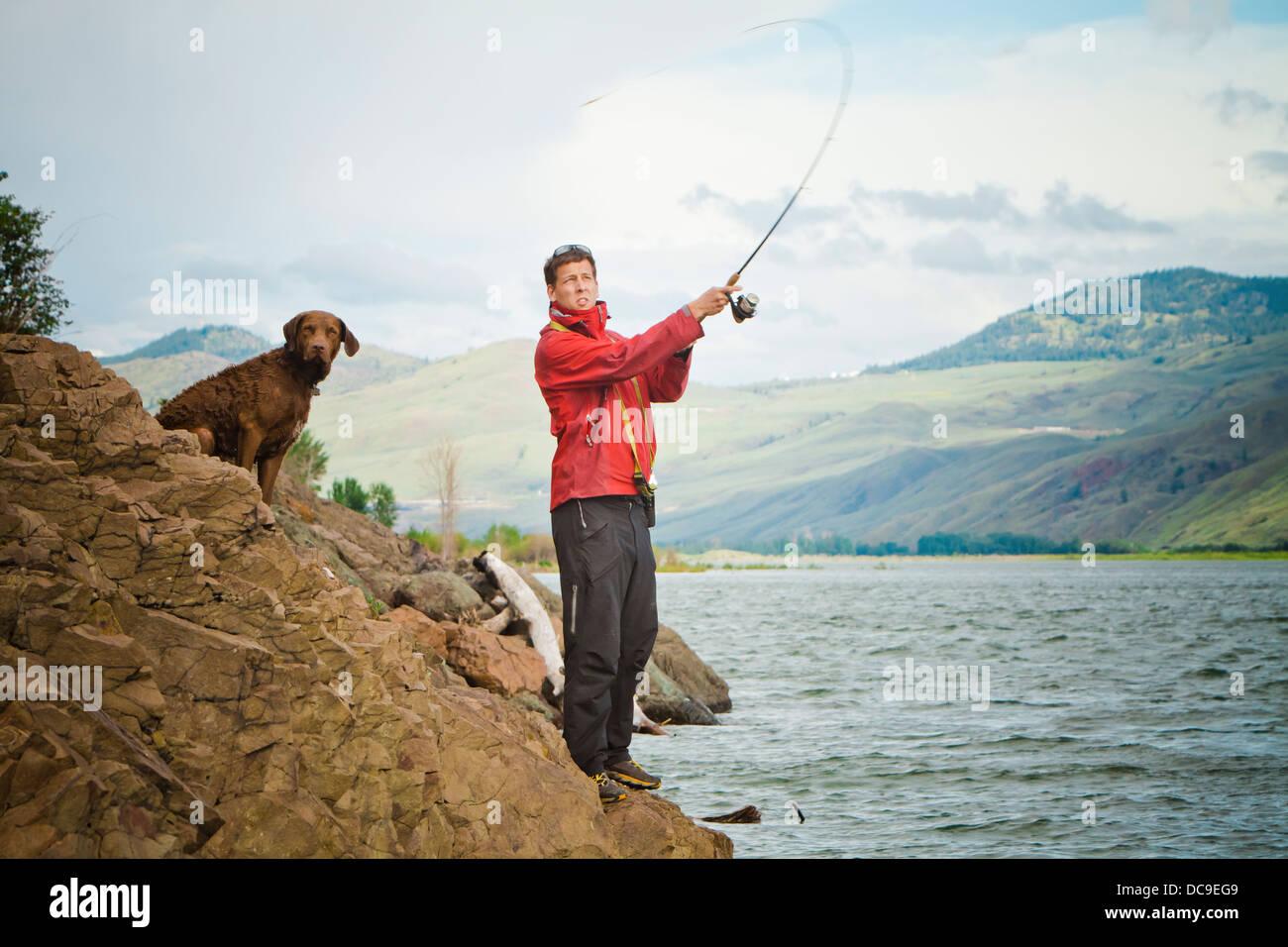 Kamloops Lake - Stock Image