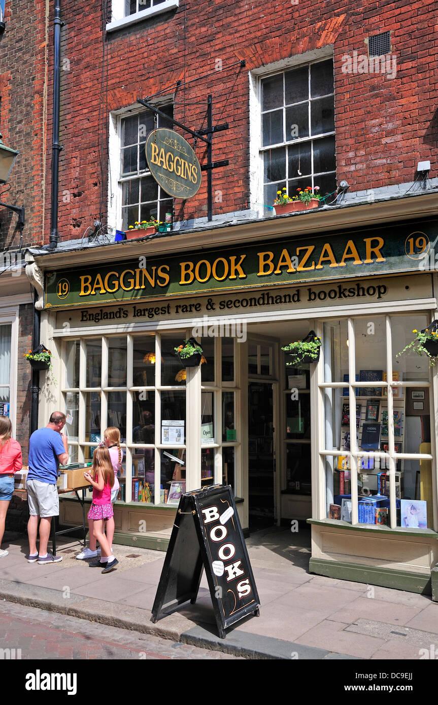 Rochester, Kent, England, UK. Baggins Book Bazaar - Britain's largest secondhand bookshop - Stock Image