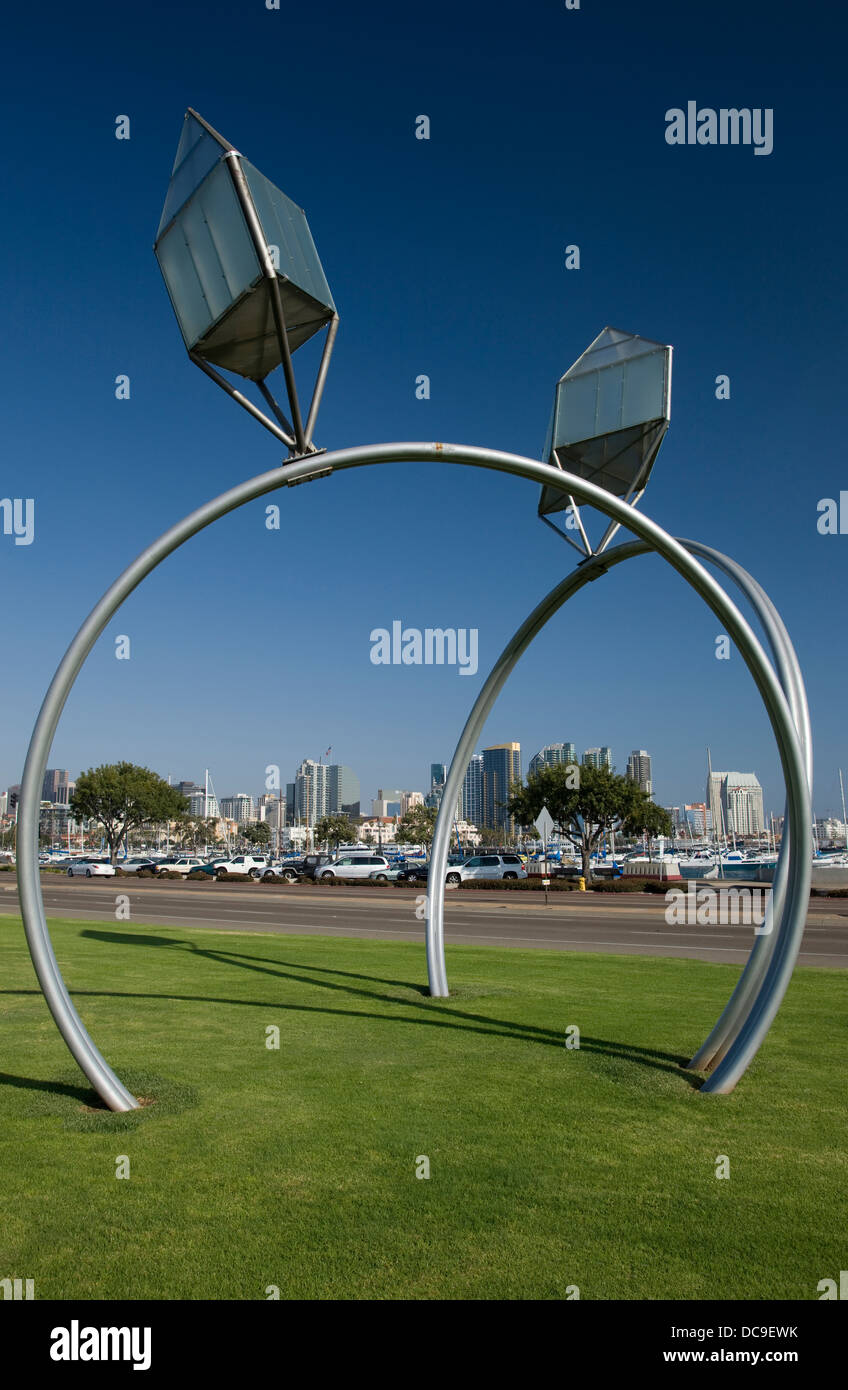 DENNIS OPPENHEIM ENGAGEMENT RINGS SCULPTURE ENGLISH BAY SAN DIEGO