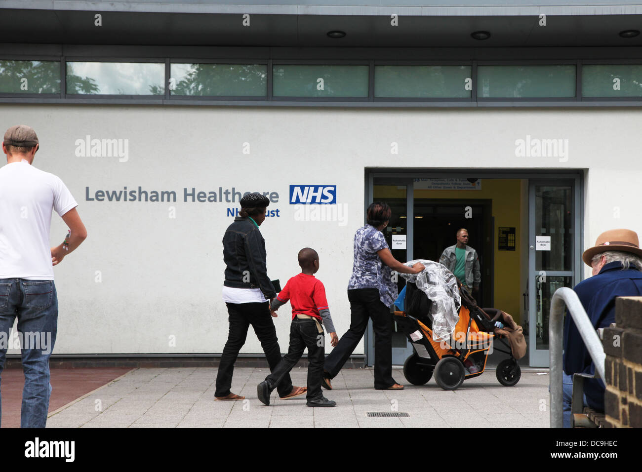 Lewisham Hospital, South London. The Accident and Emergency Department is under threat of closure - Stock Image