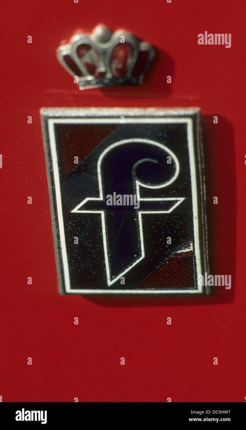 PININFARINA Badge of the Italian car design company - Stock Image