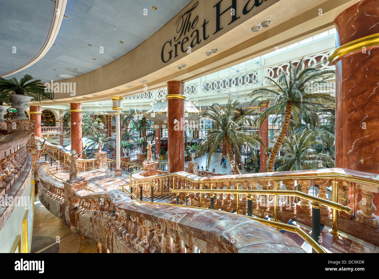 The Great Hall inside The Trafford Centre shopping complex, Dumplington, Greater Manchester, England, UK - Stock Image