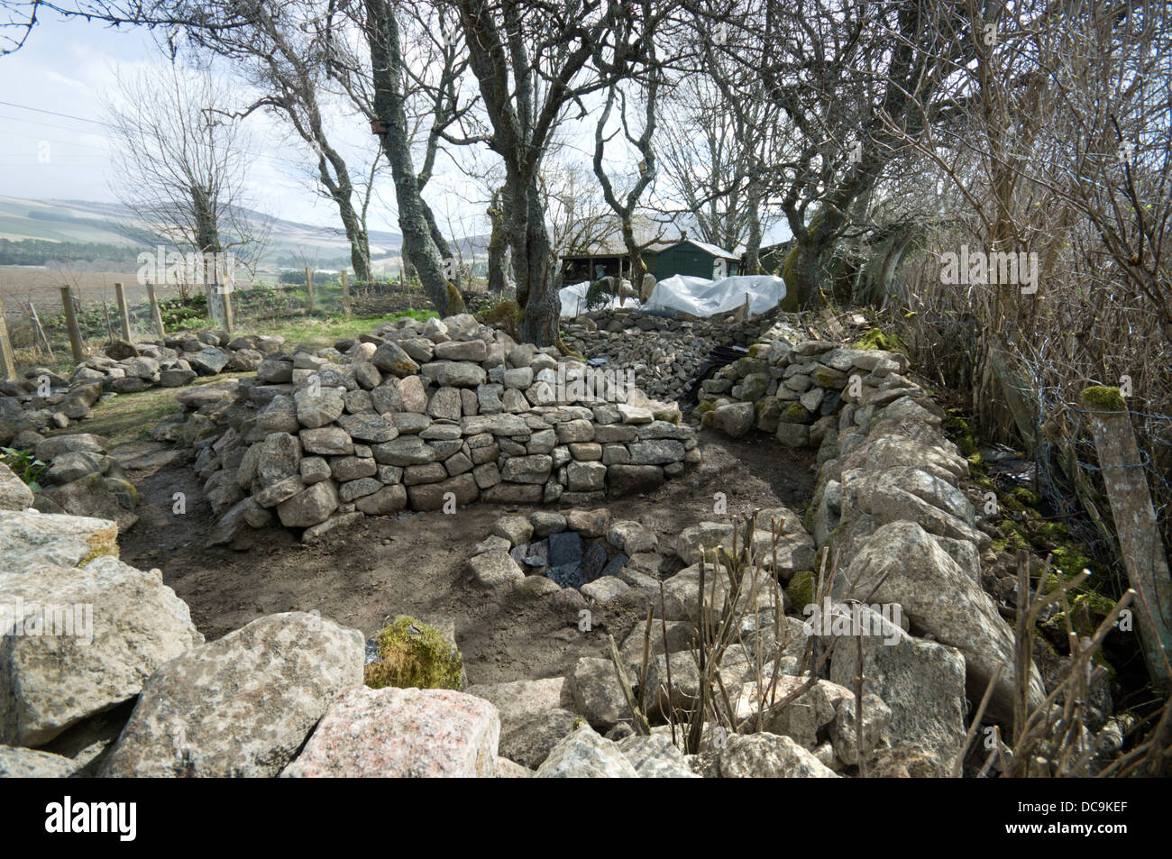Image of: Stone Firepit Created In A Rural Garden For Outdoor Cooking Stock Photo Alamy
