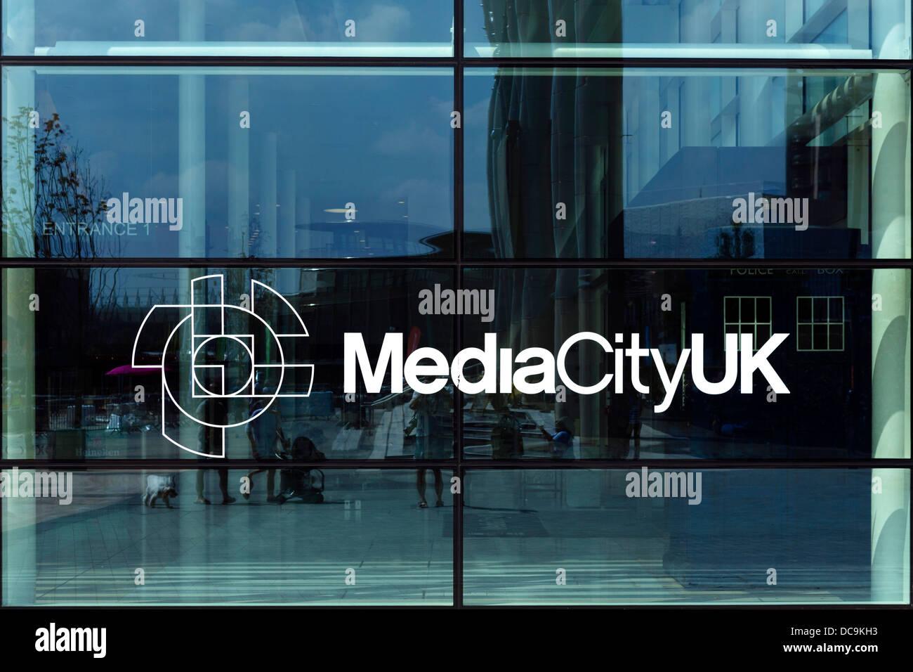 BBC Studios in MediaCityUK, Salford Quays, Manchester, UK - Stock Image