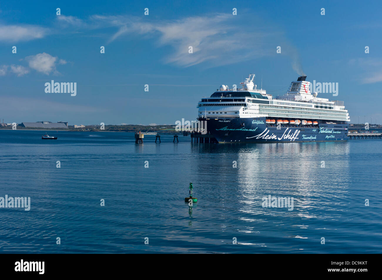 Mein Schiff 1 cruise ship Holyhead Harbour Anglesey North Wales Uk - Stock Image