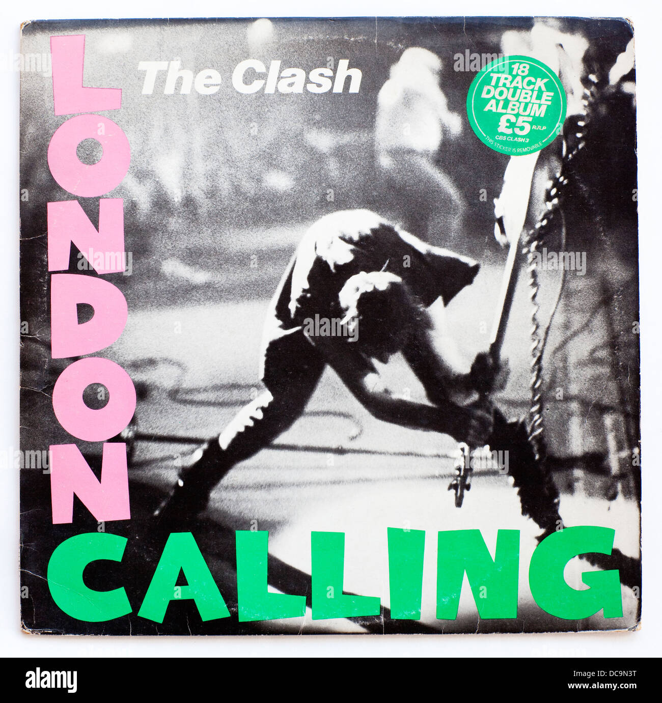 The Clash - London Calling, 1979 double album on CBS Records - Stock Image