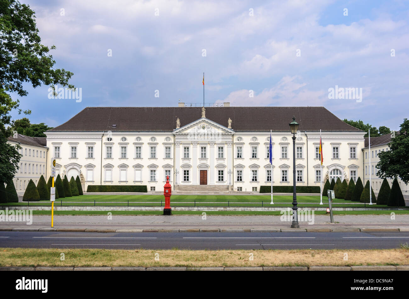 Bellevue Palace, Schloss Bellevue, official residence of the President of Germany, located in the Tiergarten district, Stock Photo