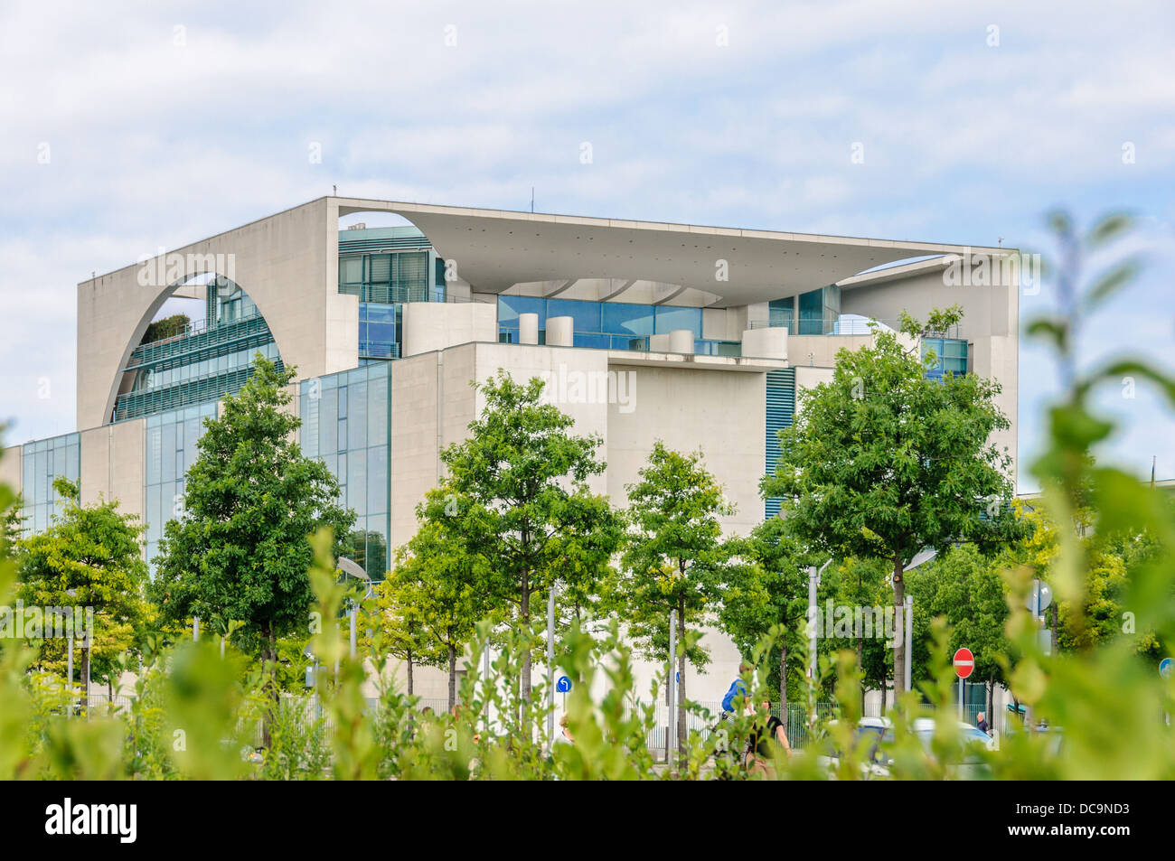 Backside of the Chancellery of the Federal Republic of Germany, Berlin Stock Photo