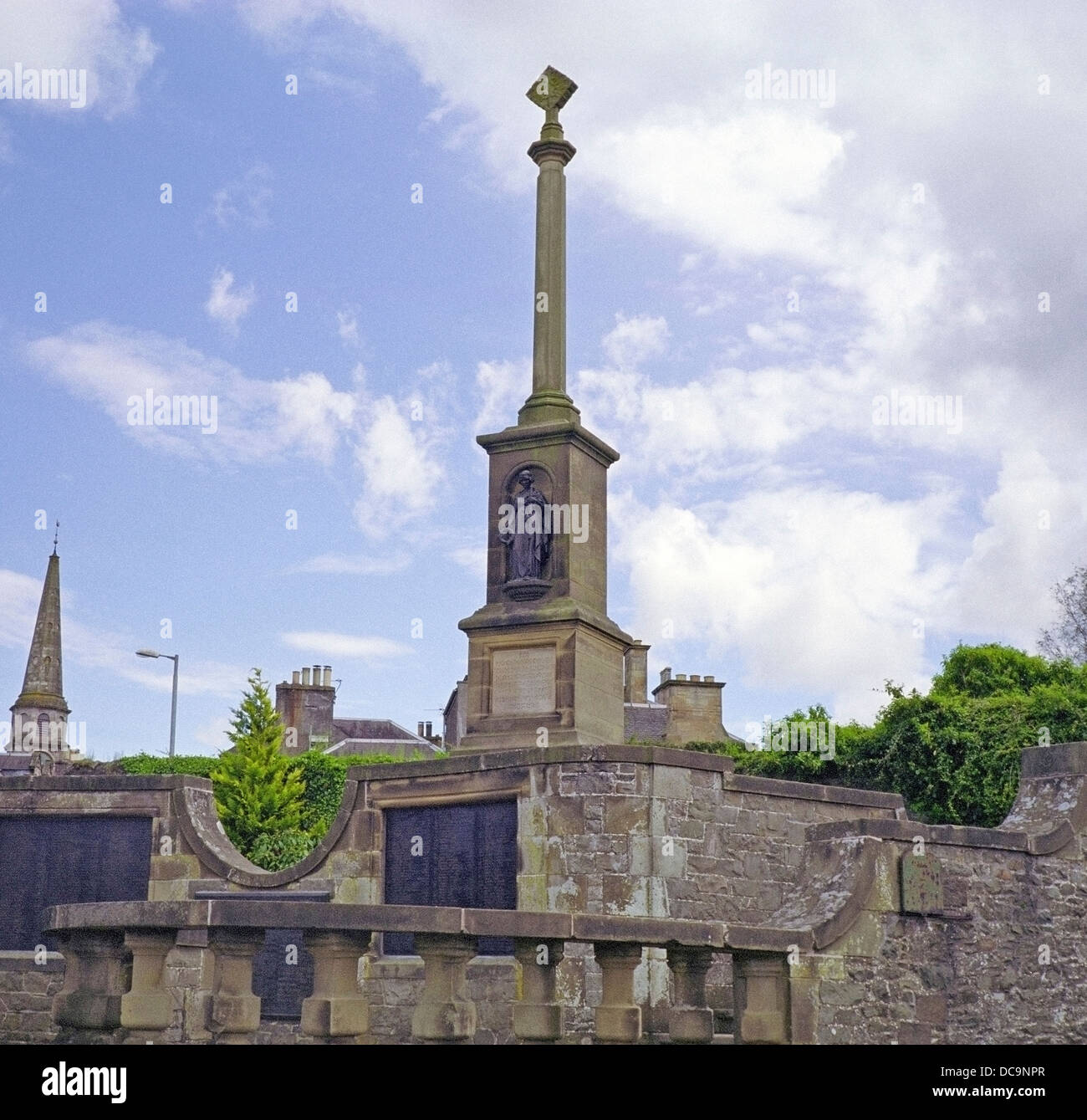 Selkirk War Memorial, Selkirk, Borders, Scotland, UK - Stock Image