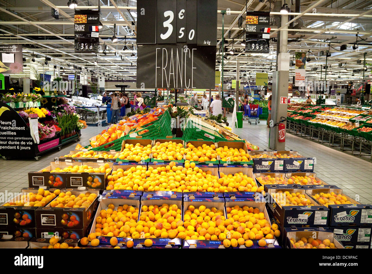Local french produce - fruit - for sale, Carrefour