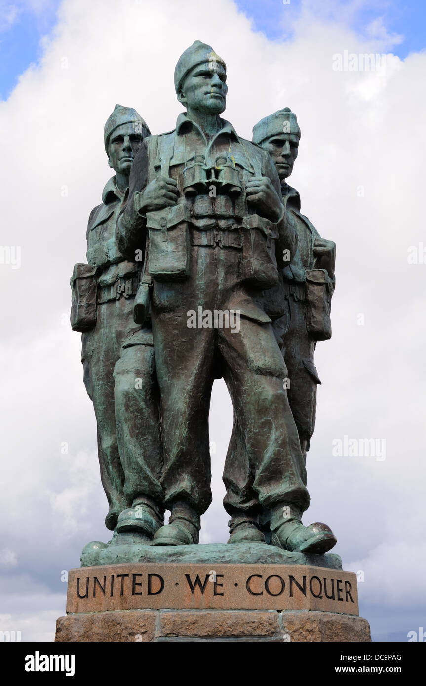 Monument dedicated to the Commando forces of the second world war in the Scottish Highlands. - Stock Image