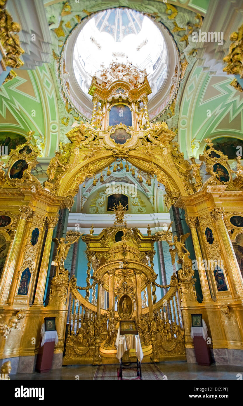 Interior of Saints Peter Paul Cathedral, St.Petersburg, Russia - Stock Image